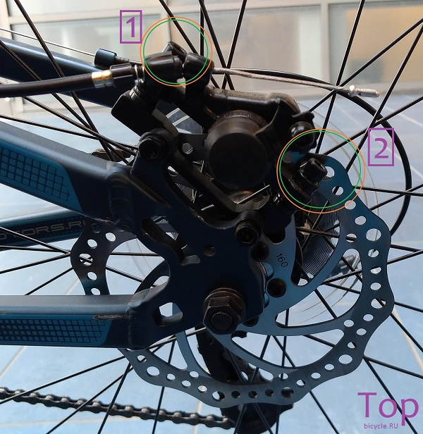 stels pilot 950 md 26 Регулировка механических дисковых тормозов www.topbicycle.ru